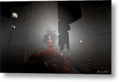 Contessa Vampiro Fuggire L'alba - Flee The Dawn Metal Print