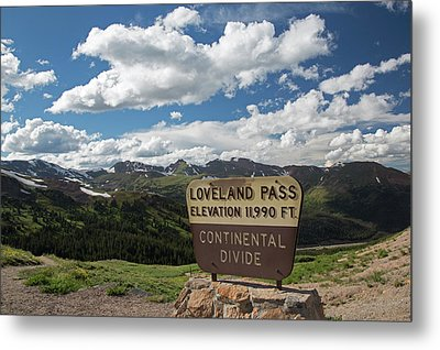 Continental Divide Sign Metal Print by Jim West