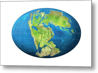 Continents 150 Million Years Ago Metal Print by Claus Lunau