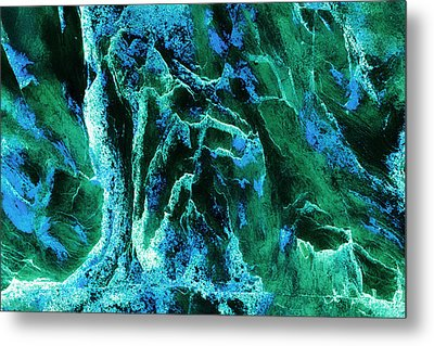 Contours 081 Abstract Metal Print by Natalie Kinnear
