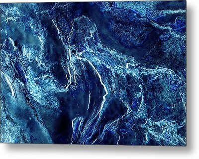 Contours 093 Abstract Metal Print by Natalie Kinnear