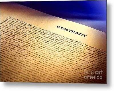 Contract Metal Print by Olivier Le Queinec
