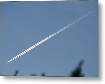 Metal Print featuring the photograph Contrail by David S Reynolds