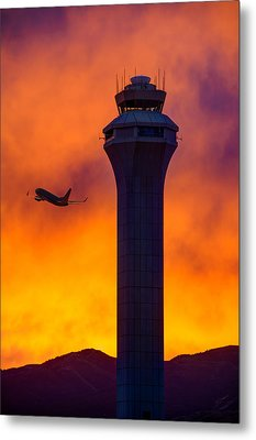 Control Tower Metal Print