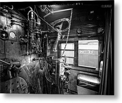 Controls Of Steam Locomotive No. 611 C. 1950 Metal Print by Daniel Hagerman