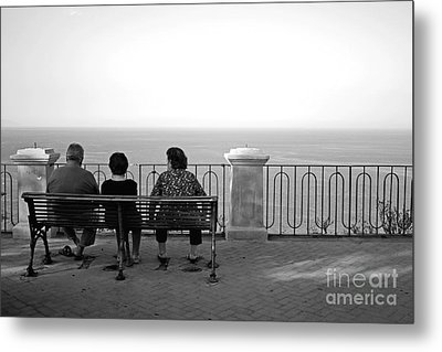 Conversations By The Sea Metal Print