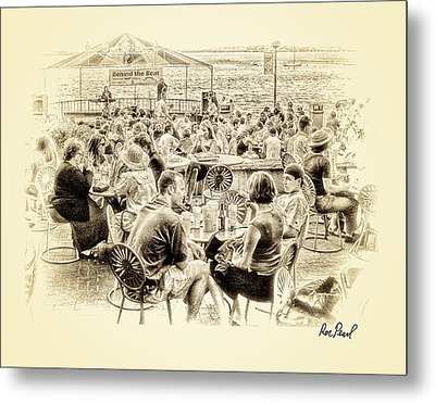 Conversations In Black And White Metal Print by Ron Pearl