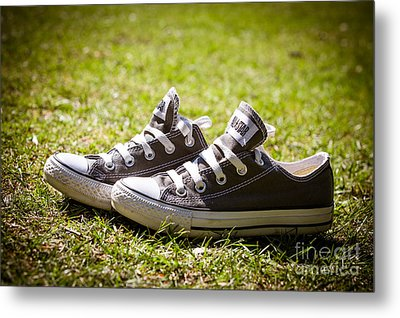 Converse Pumps Metal Print by Jane Rix