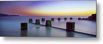 Coogee Baths Australia Metal Print by Mike Banks