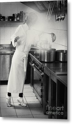 Metal Print featuring the pyrography Cook by Evgeniy Lankin