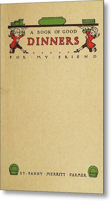 Cookbook, 1914 Metal Print by Granger