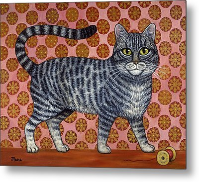 Cookie Cat Metal Print by Linda Mears
