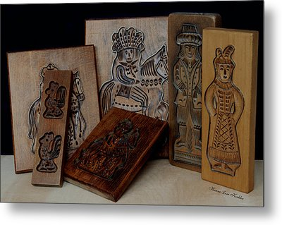 Cookie Mold Collection 2 Metal Print by Hanne Lore Koehler
