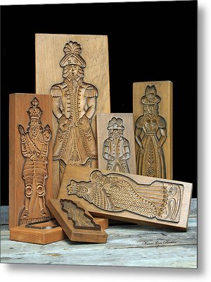 Cookie Mold Collection Metal Print by Hanne Lore Koehler