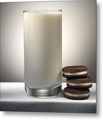 Cookies And Milk Metal Print by Robert Mollett