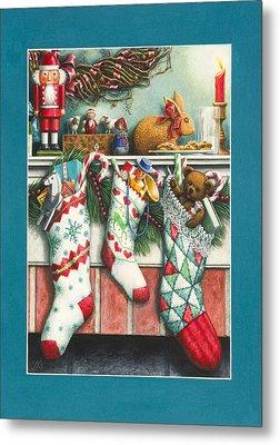 Cookies For Santa Metal Print by Lynn Bywaters