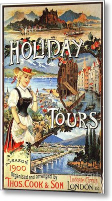 Cook�s 1890s Uk Holidays Holiday Metal Print by The Advertising Archives