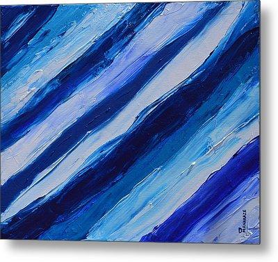 Cool Azul Metal Print