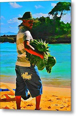 Cool Beach Merchant Metal Print