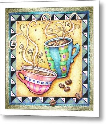 Cool Beans Metal Print by Pop Art Diva