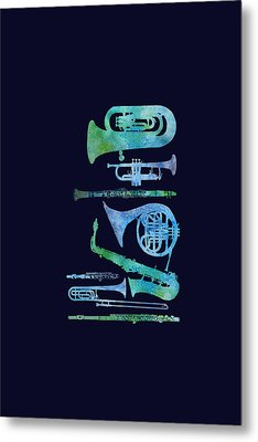 Cool Blue Band Metal Print