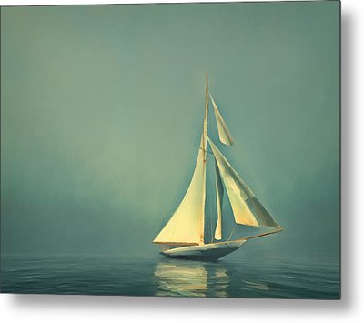 Cool Blue Sea Metal Print by Lonnie Christopher