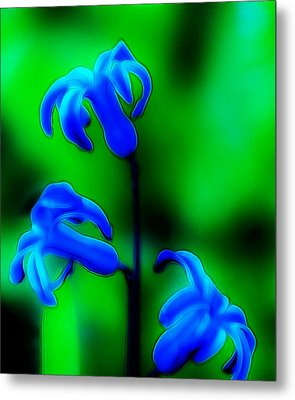 Cool Blue Metal Print by Thomas  MacPherson Jr