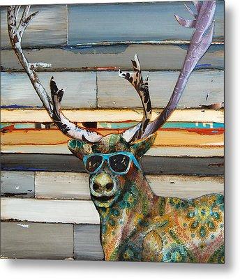 Cool Caribou Metal Print