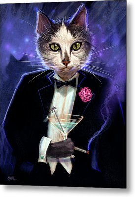 Cool Cat Metal Print by Jeff Haynie