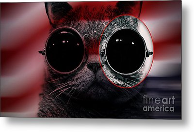 Cool Cat Painting Metal Print by Marvin Blaine