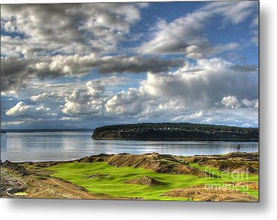 Metal Print featuring the photograph Cool Clouds - Chambers Bay Golf Course by Chris Anderson