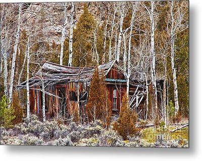 Cool Colorado Rural Rustic Rundown Rocky Mountain Cabin  Metal Print by James BO  Insogna