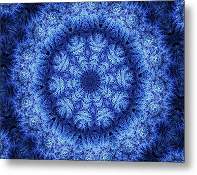 Metal Print featuring the digital art Cool Down Series #1 Snowflake by Lilia D