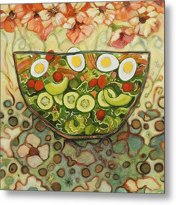 Cool Summer Salad Metal Print by Jen Norton