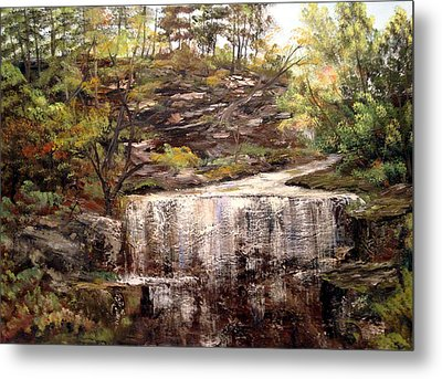 Cool Waterfall Metal Print