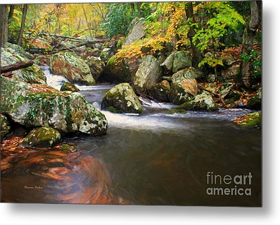 Cool Waters Of Autumn Metal Print