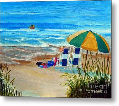 Metal Print featuring the painting Cooling Off by Shelia Kempf