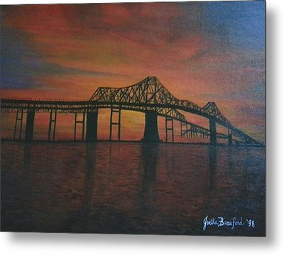 Cooper River Bridge Memories Metal Print by Joetta Beauford