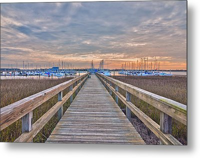 Cooper River Marina Metal Print by Donnie Smith
