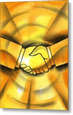 Cooperation Metal Print