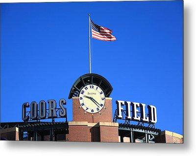 Coors Field - Colorado Rockies Metal Print by Frank Romeo