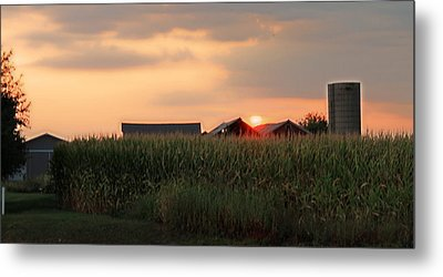 Coountry Sunset Metal Print by Victoria Sheldon