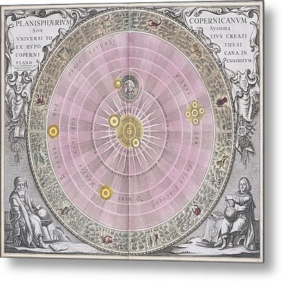 Copernican Planisphere, 1708 Metal Print by Science Photo Library