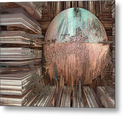 Copper Ball Metal Print