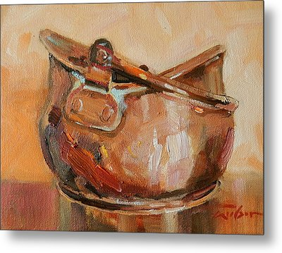 Copper Bowl Metal Print by Ron Wilson