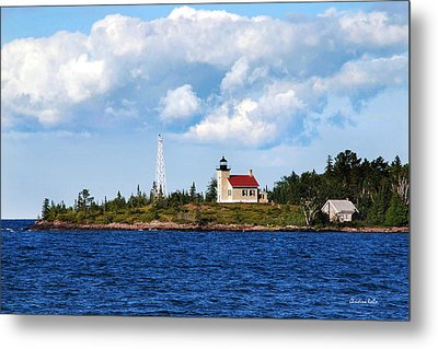 Copper Harbor Lighthouse Metal Print by Christina Rollo