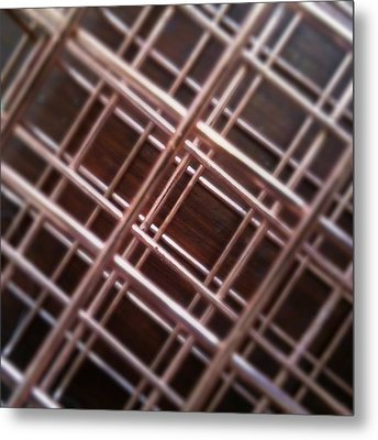 Copper Plaid Metal Print by Jaime Neo