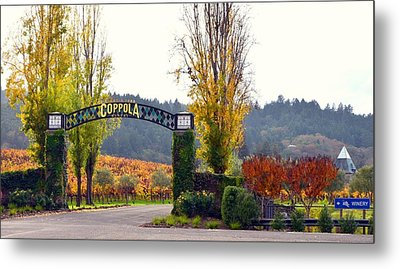 Coppola Winery Sold Metal Print