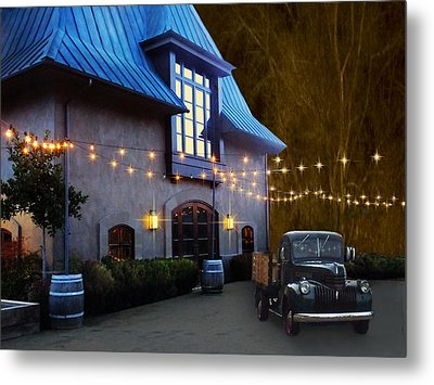 Coppola Winery Metal Print by Judy  Johnson