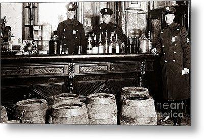 Cops At The Bar Metal Print by Jon Neidert